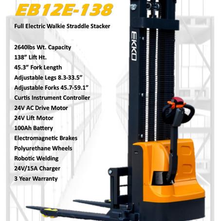 EKKO EB12E-138 Walkie Straddle Stacker