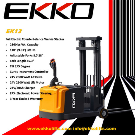 EK13 Counterbalance stacker