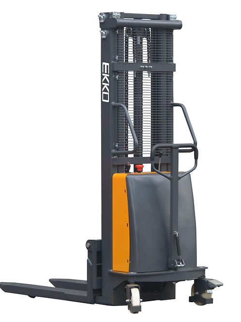 "EKKO EA15C Semi-Electric Fork-Over Stacker 3300lbs. Cap., 119.3"" Height"