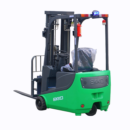 EKKO EK15A-189LI 3-Wheel Electric Forklift, 3300 lbs Cap., 189'' Lift Ht.