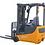 Thumbnail: EKKO EK15A-189LI 3-Wheel Electric Forklift, 3300 lbs Cap., 189'' Lift Ht.