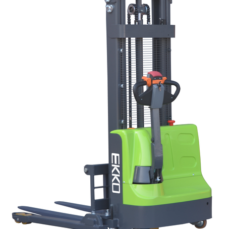 "LITHIUM-IRON Electric Straddle Stacker 72"" Mast"