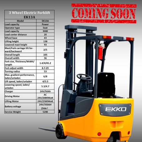 EKKO EK13A 3 Wheel Elec. Forklift