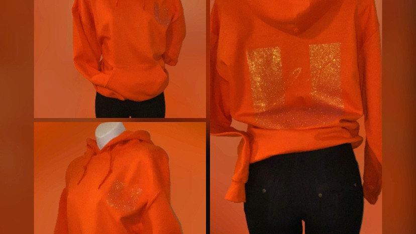Orange Ucci Cute Hoodie
