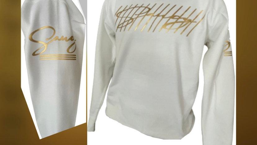 Saucy White sweatshirt