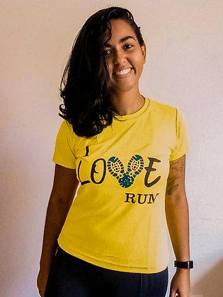 CAMISA I LOVE RUN AMARELA