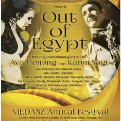 Out of Egypt MEDANZ Annual Festival, Orewa 2014