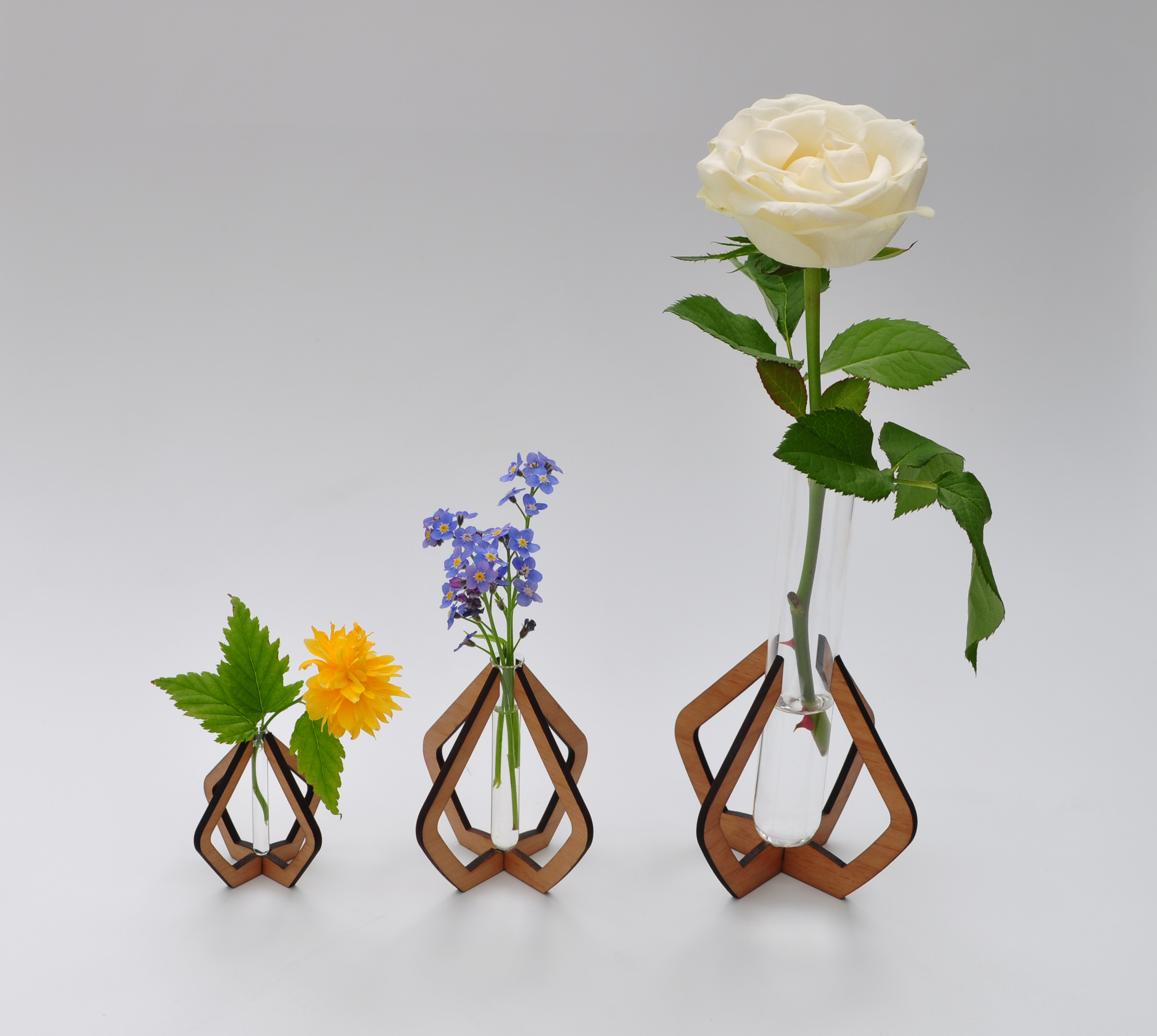 Pinch Vases in a row