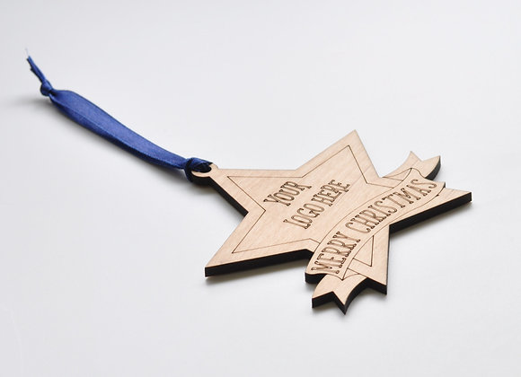 50 branded Christmas Star decorations.
