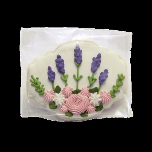 Lavender Decorated Sugar Cookie