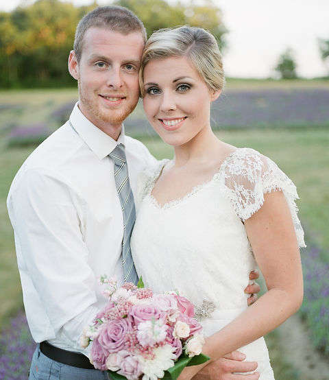 Newly Wedded Couple in Laveanne's Lavender Field
