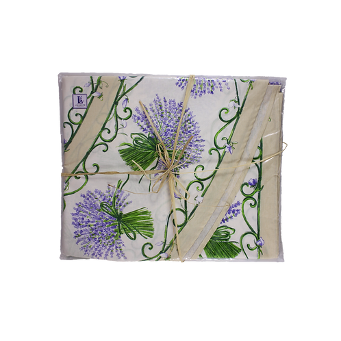 Lavender (Cream) Provence Tablecloth