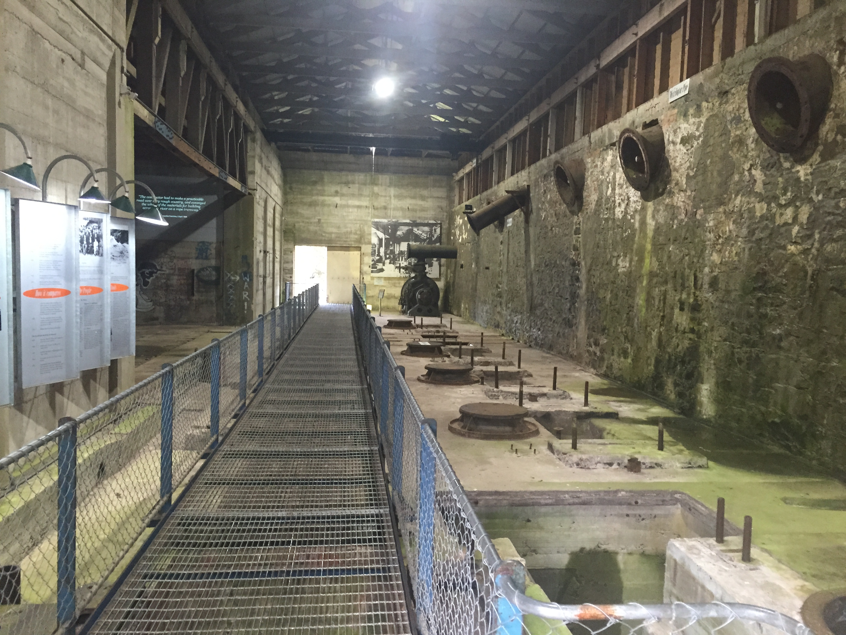 Inside of Duck Reach Power Station