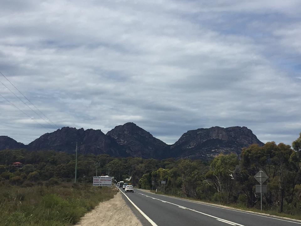 Entering Freycinet National Park