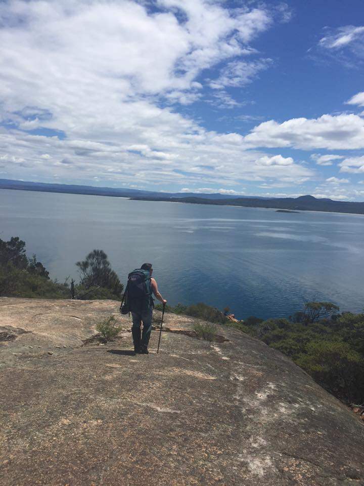 Admiring the view on day 1 - Freycinet Circuit