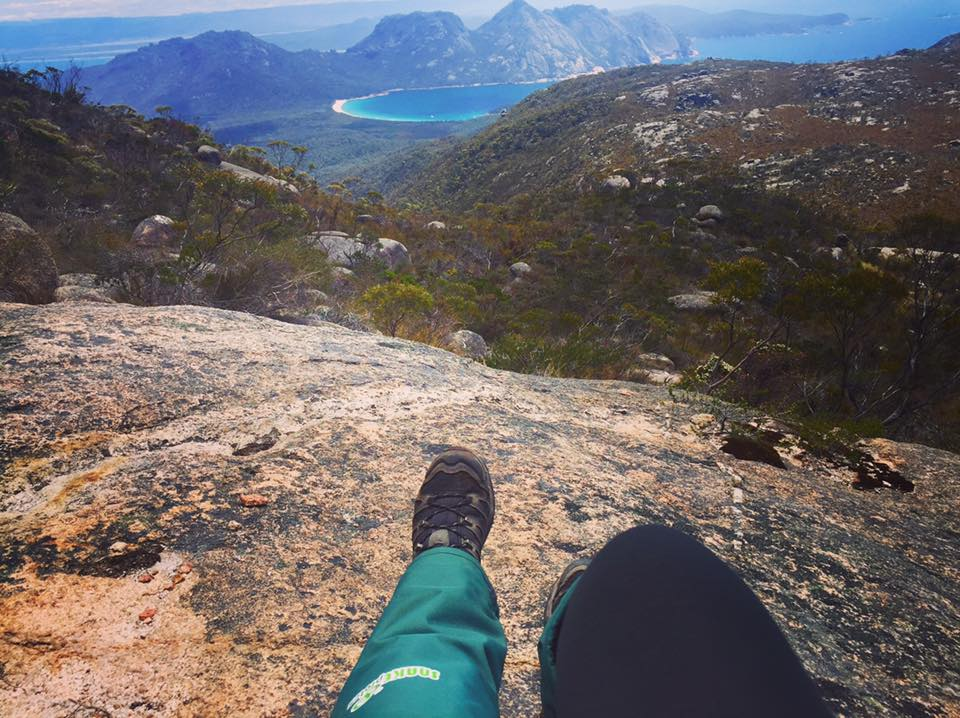Photo taken from the top of Mount Graham overlooking Wine Glass Bay - Freycinet Circuit