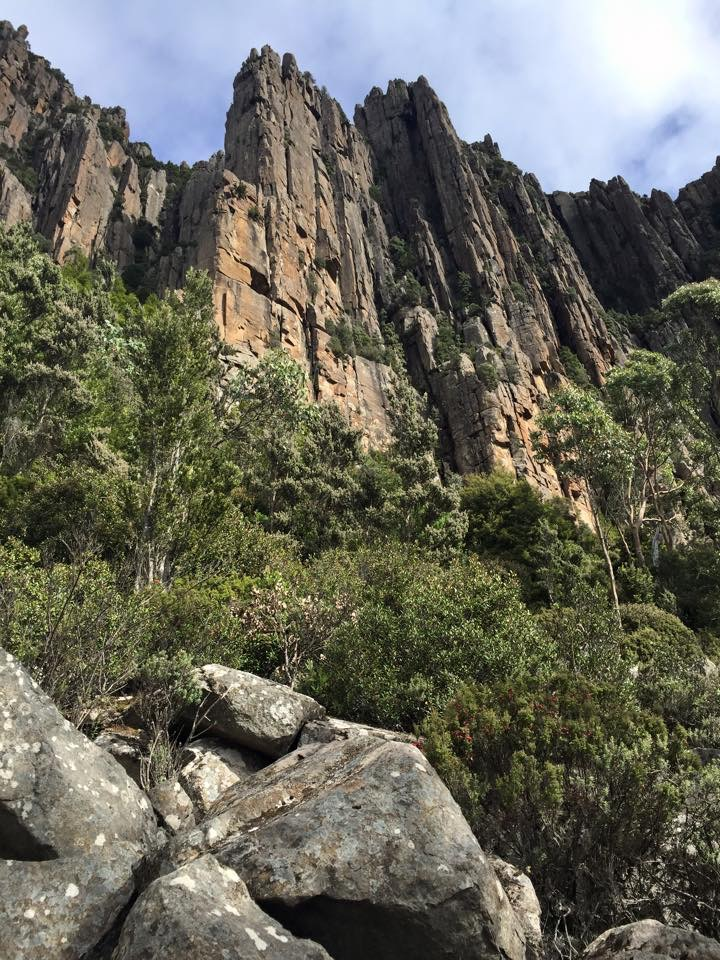 The Organ Pipes is a popular area for rock climbers in Hobart