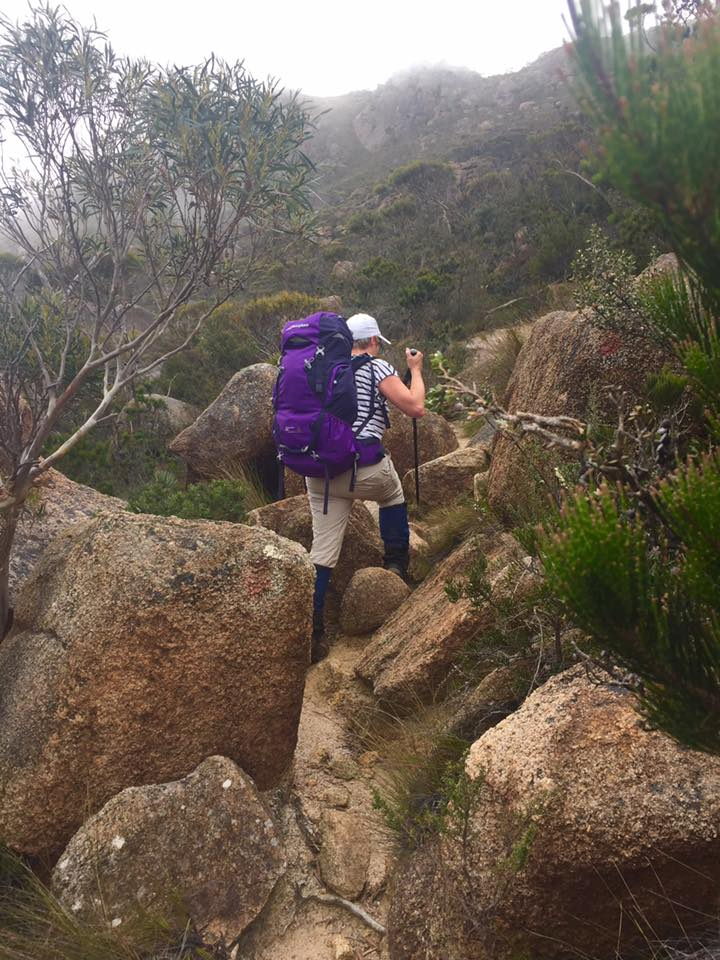 The very steep climb up Mount Graham, Day 2 - Freycinet Circuit