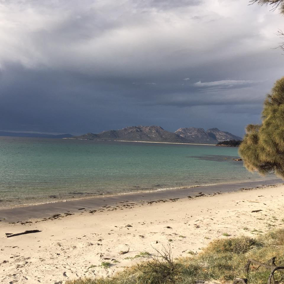 Cooks Beach, taken from the camp area - Freycinet Circuit