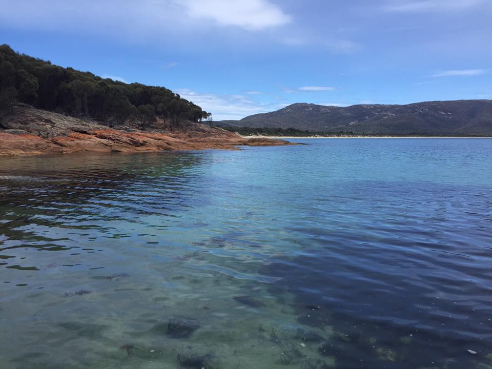 Small bay that you will pass on Day 1 - Freycinet Circuit
