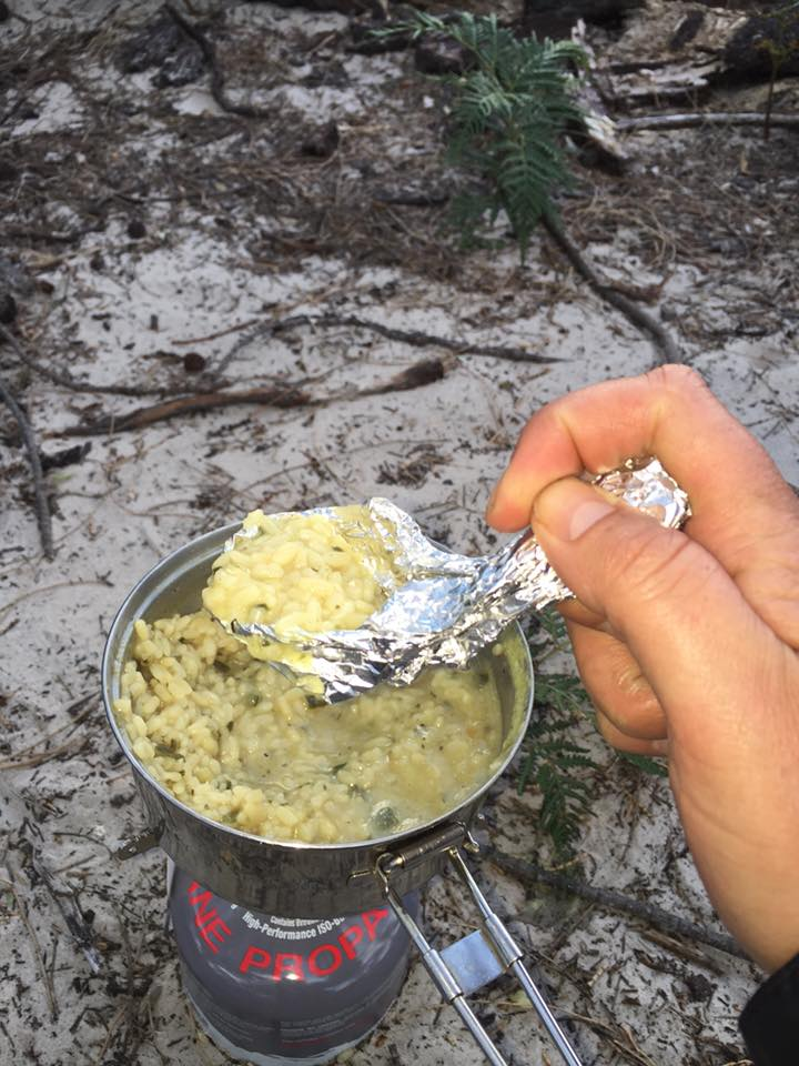 I forgot my spoon so had to improvise, worked a treat ;-) - Freycinet Circuit