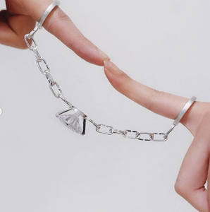Ring connecting two fingers by student Sylvia Zhang