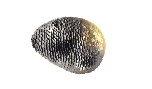 Brooch from the Amaru collection with oxsidised silver and gold metal