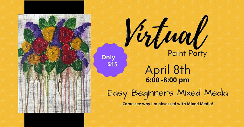 Drippy Floral MM - FB Event Cover Photo