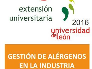CURSO DE EXTENSIÓN UNIVERSITARIA: Gestión de Alérgenos en la Industria Alimentaria