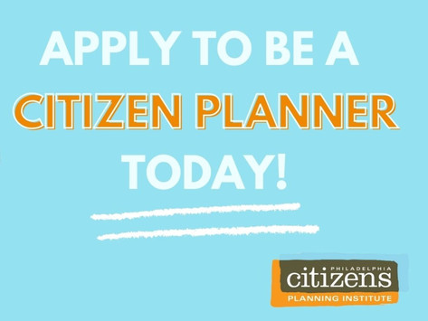 Citizens Planning Institute is Accepting Applications for Fall 2021 Course!