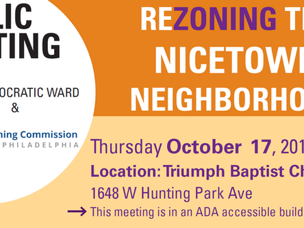 Nicetown Neighborhood Rezoning