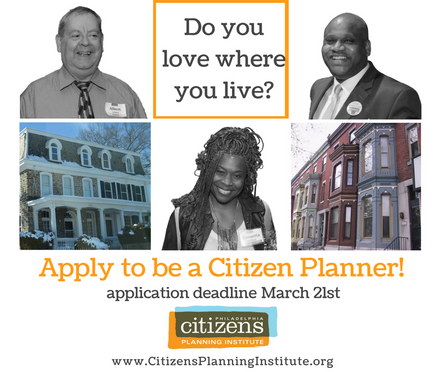 Do you love where you live? Apply to be a Citizen Planner!