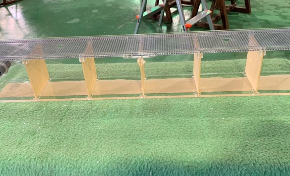 仕切り板付きアクリル水槽
