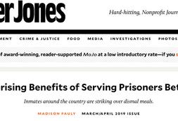 Mother Jones: The Surprising Benefits of Serving Prisoners Better Food