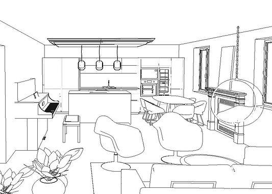 conception intérieure 3D appartement à Paris