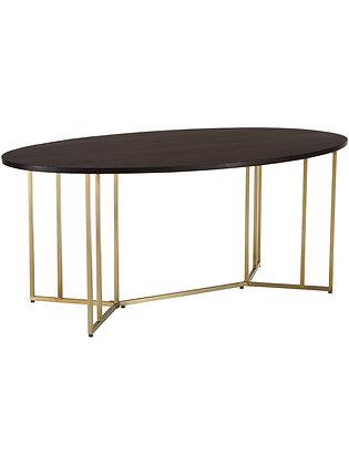 Table salle à manger bois, ovale