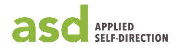 Applied Self direction green ASD logo