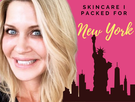 The skincare I packed for NYC (a.k.a my current 'desert island' products)