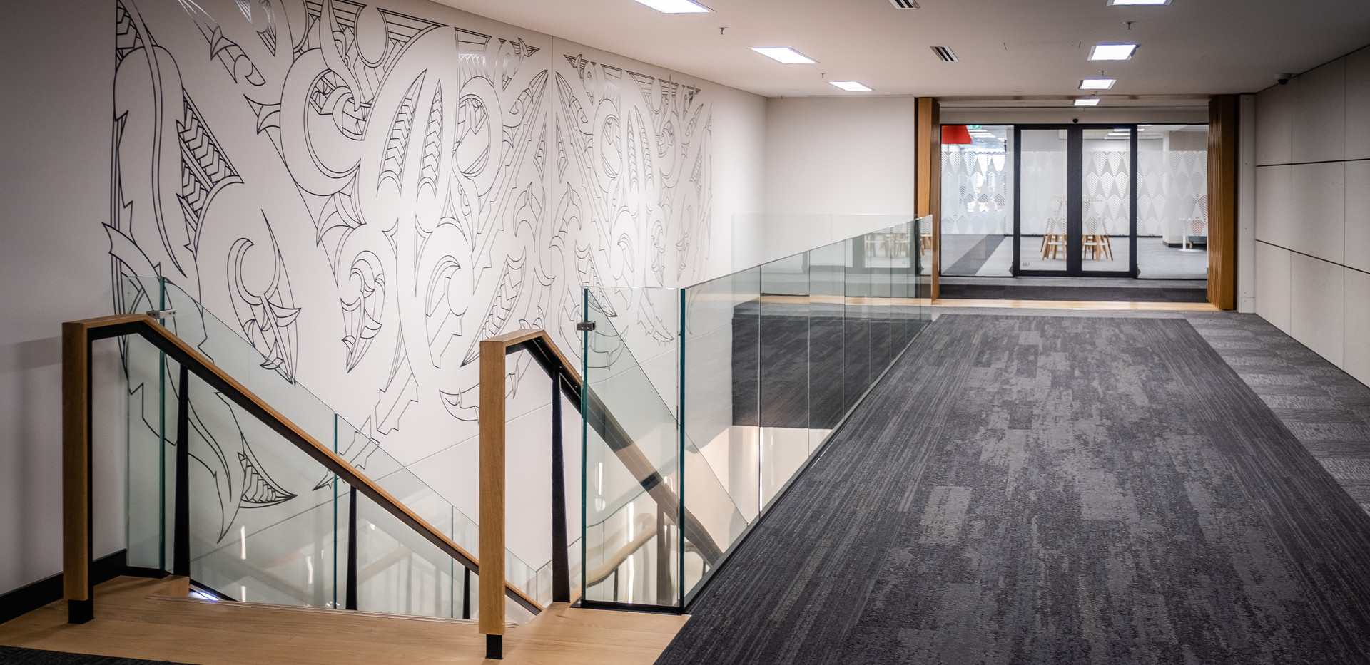 Feature Mural from Top of Stair
