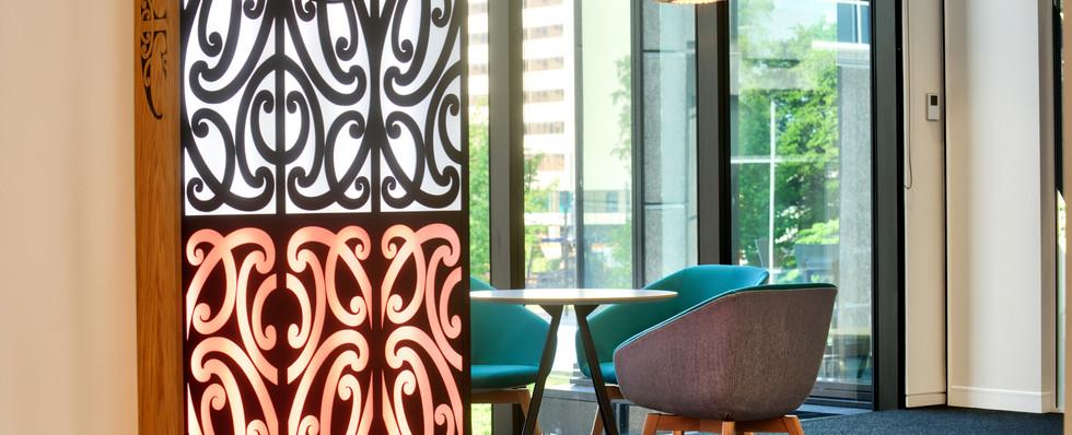 Maori Artwork & Informal Meeting Space