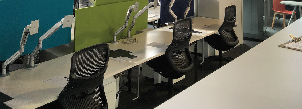 Double Height Open Plan Workstations