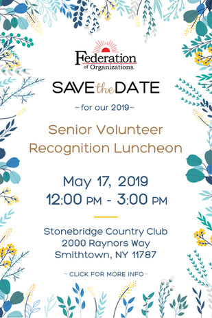 Fed Org 2019 Senior Luncheon - Save the