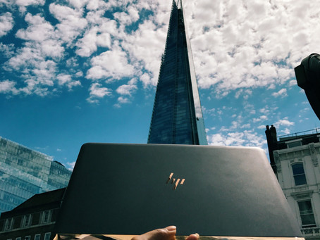 LONDON TRAVEL DIARY WITH HP SPECTRE