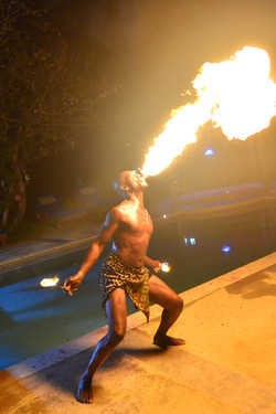 Fire Dance at Wedding in Ocho Rios