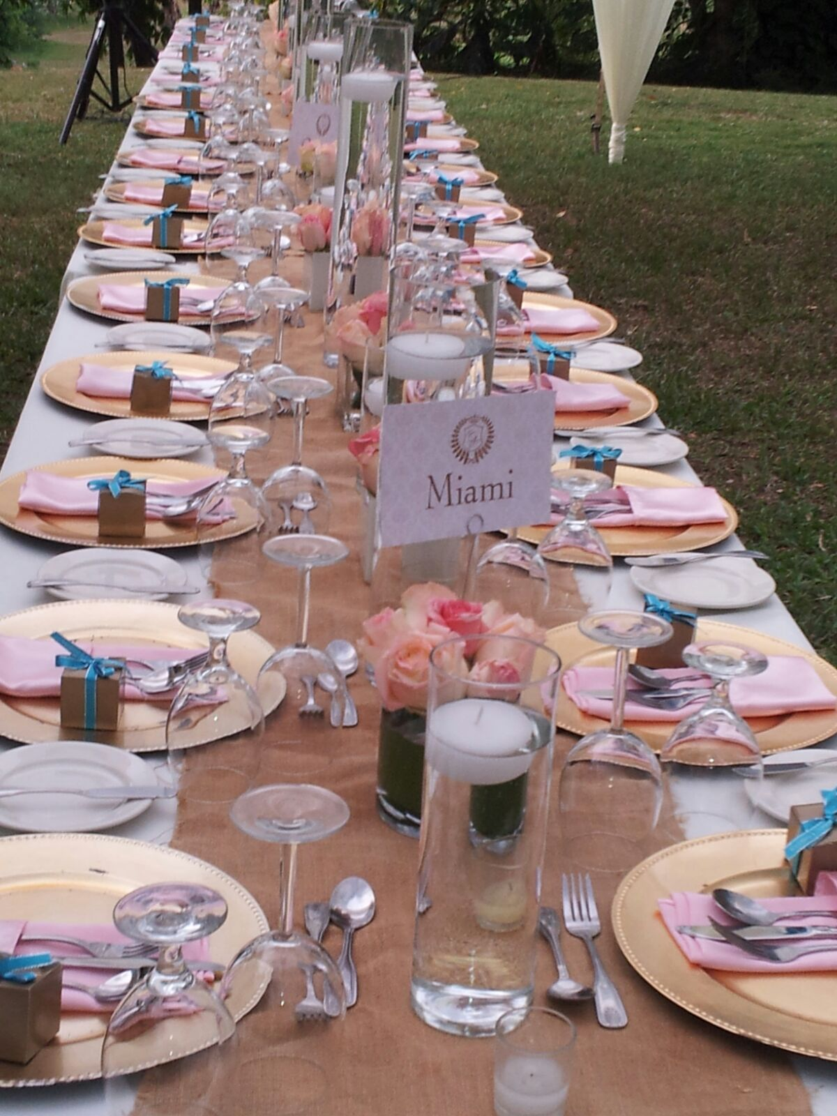 Tablescape at Wedding in Montego Bay