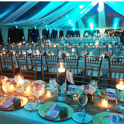 Magical, wedding tent  lighting