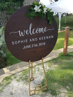Wedding Reception Welcome Sign