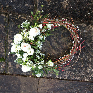 Willow natural wreath