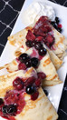 Blueberry & Strawberry Crepes (Low Calorie)
