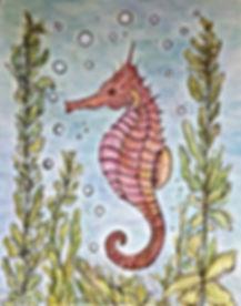 Seahorse ink/pencils